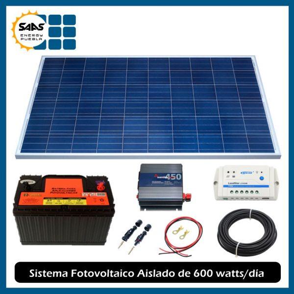 Kit Fotovoltaico Aislado de 600 Watts