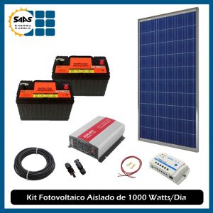 Kit Fotovoltaico Aislado 1000 Watts