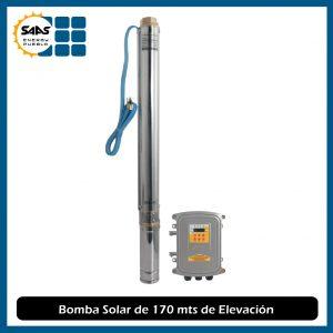 Bomba de Agua Solar de 170 mts de Elevación