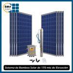 Sistema de Bombeo de Agua Solar de 170 mts de Elevación