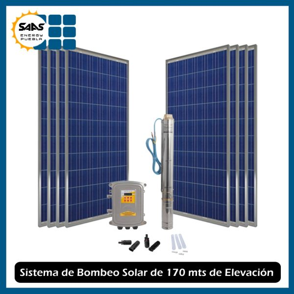 Kit de Bombeo Solar 170 mts - Saas Energy Puebla