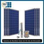 Sistema de Bombeo de Agua Solar de 55 mts de Elevación