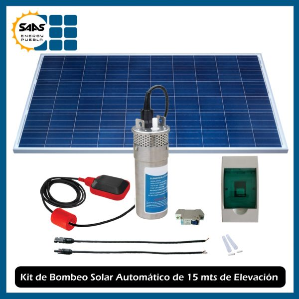 Kit Bomba Solar Automático 15 mts Metálico - Saas Energy Puebla