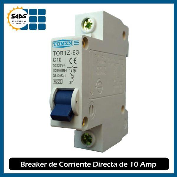 Breaker 10 Amperios - Saas Energy Puebla