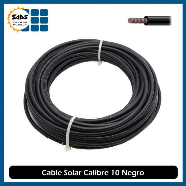 Cable Solar Negro - Saas Energy Puebla