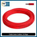 Cable Fotovoltaico Calibre 10 Rojo (10 Metros)