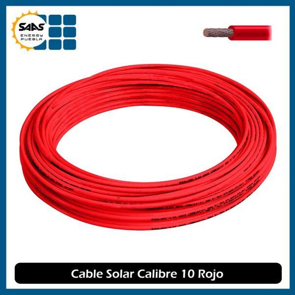 Cable Solar Rojo - Saas Energy Puebla