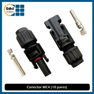 Conectores MC4 (Macho y Hembra) Paquete de 10 pza.